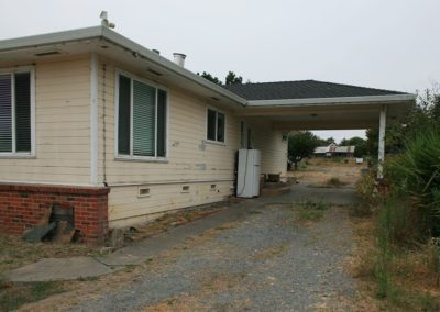 Before exterior painting